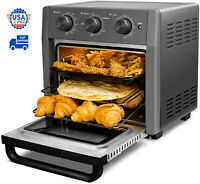 21 QT 5-IN-1 Air Fryer Toaster Oven Pro Countertop Convection Oven Gray