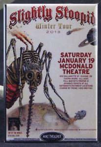 """Slightly Stoopid Concert Poster 2"""" X 3"""" Fridge / Locker Magnet. Eugene Oregon"""