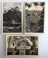 3x DDR Postkarte von BURGK Saale Thüringen Ansichtskarten Lot Kleinformat ~1957