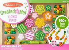 Melissa & Doug Flower Power Wooden Bead Set With 120+ Beads and 5 Cords #4178