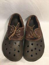Crocs Leather Boat Shoe Mens 5 Womans 7