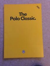 VW Polo Classic range brochure 1983 Model Year pub Sep 1982 in A1 condition