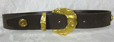 JAEGER  BELT BROWN SUEDE WITH BRASS ROSETTES  SIZE 28 EUC