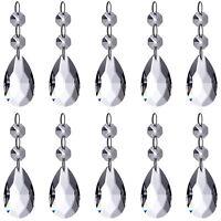 Neewer 10-Pack Teardrop Chandelier Crystal Pendants Glass Beads Pendant