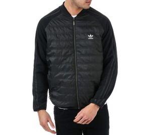 MENS Adidas Originals Quilted Jacket Classic Superstar Winter Black  XS S M L XL