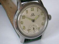Reloj de estilo militar vintage SWISS OMEGA Segunda Guerra Mundial (1939) era 15J Manual Viento Super!