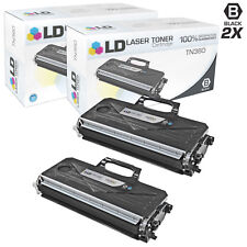 LD © for Brother TN360 2pk Black DCP-7030 7040 HL-2140 2150 2170 7345 7440