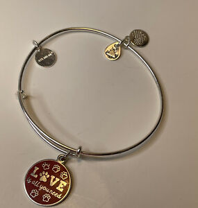Alex And Ani All You Need Is Love Dog Paws Bracelet
