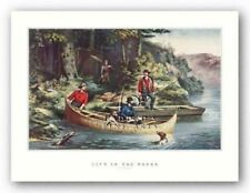Life in the Woods Currier and Ives Art Print 13x8