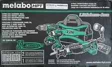 Hitachi Metabo HPT 18V 4-Piece Tool Combo Kit w/ 2 Li-ion Batteries KC18DG4L(S)