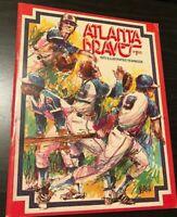 1975 Atlanta Braves Illustrated Yearbook Dusty Baker Phil Niekro BASEBALL POSTER