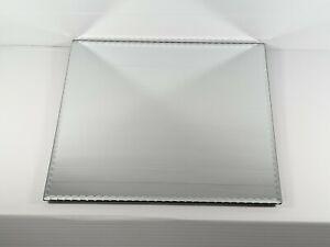 """Pottery Barn Square Beveled Mirror Frameless Perfume Tray 14"""" Home Decor"""