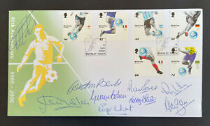 2006 Word Cup Anniversay Official FDC signed by 9 of the winning team