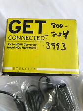 Original HDCVT HDV-M615 MINI AV to HDMI 1080P Converter USA shipping