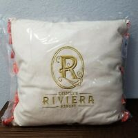 Disney Parks WDW Riviera Resort Logo Tassel Throw Pillow Large Mickey Icon