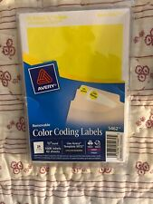 "Avery® Printable Removable Color-Coding Labels, 3/4"" dia, Yellow, 072782054625"