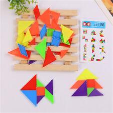 4Set 7-Rainbow Color Tangram DIY plastique cerveau puzzle Kids jouet éducatif ZH