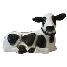 Blow Mold Plastic Cow Black And White Planter Union Products New