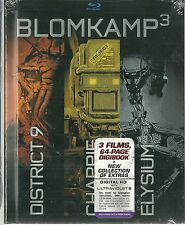 NEW Still Sealed - 3 Disc Blu Ray Set - BLOMKAMP3 - Chappie  District 9  Elysium