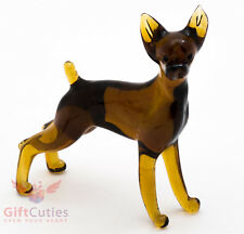 Art Blown Glass Figurine of the Toy Fox Terrier dog