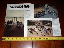 1969 Suzuki T500 Titan T-350 Hustler T-125 Ac-100 As-50 Ts-250 - Original Ad