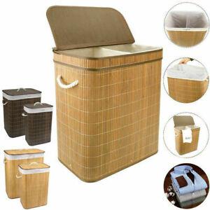 Large Laundry Basket Bathroom Washing Dirty Clothes Storage Hamper Bin With Lid