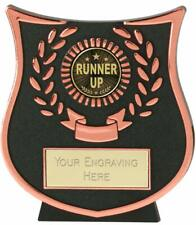 Emblems-Gifts Curve Bronze Runner Up Trophy With Free Engraving