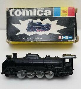 Vintage Japan Tomica D51 Type Steam Locomotive Train Diecast with Box No 104
