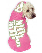 Pink Glow In The Dark Skeleton Pet Dog Cat Halloween Costume-M