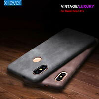 Genuine X-Level Vintage Leather Back Case Cover For Xiaomi Redmi Note 7 Pro Mi 9