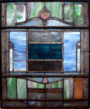 Pair Antique Stain Glass Windows, Salvage from Philadelphia Building