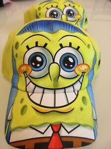 NEW Vintage 2012 Spongebob Squarepants Toddler Boys Yellow Baseball Cap Sz 51cm