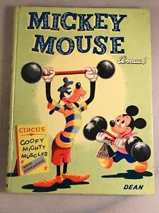 Vintage Annual: Mickey Mouse Annual 1955 Hardback Walt Disney Mickey Annual