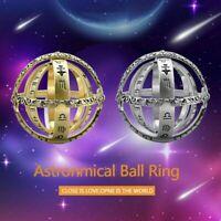 Astronomische Kugel Ball Ring kosmischen Finger Ring paar Liebhaber Geschenke AW