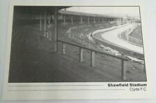 CLYDE FC SHAWFIELD STADIUM (SCOTLAND) FOOTBALL STADIUM POSTCARD