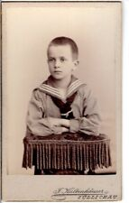 CDV Foto Niedlicher kleiner Junge - Züllichau Sulechów 1890er