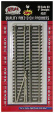 "Atlas HO Scale Code 83 6"" Straight 4-Pack Model Train Track"