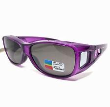 Mens Womens Ladies Purple POLARIZED UV400 SUNGLASSES FIT OVER ON GLASSES Driving