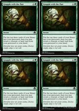 4x GRAPPLE WITH THE PAST Eldritch Moon MTG Green Instant Com