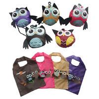 1PC Cute Shopping Bag Owl Eco-friendly Folding Tote Reusable Gift Portable Hot