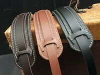Genuine leather guitar straps made in Australia and hand stitched