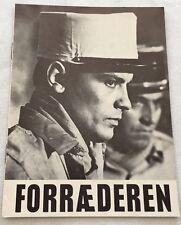 L'insoumis Alain Delon Lea Massari Georges Géret Vtg 1964 Danish Movie Program