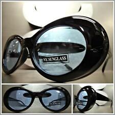 CLASSIC VINTAGE 50's RETRO Style SUN GLASSES Small Oval Fashion Frame Blue Lens