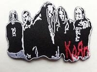 KORN AMERICAN HEAVY CLASSIC ROCK MUSIC EMBROIDERED IRON-OR SEW PATCH UK SELLER