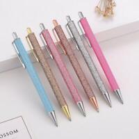 Luxury Metal Ballpoint Pen Glitter Oil Flow Pens Office School Stationery Gift