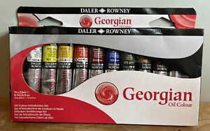Daler Rowney Oil Paint Introduction Set (Georgian) - 10 x 22ml paint Tubes NEW