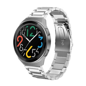 Solid Stainless Steel Link Wrist Watch Strap Band for Huawei Watch GT 2E 46mm
