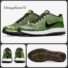 Nike Flyknit Racer G Golf Shoes, 909756-700, UK 8, EU 42.5, US 9, Volt, Black