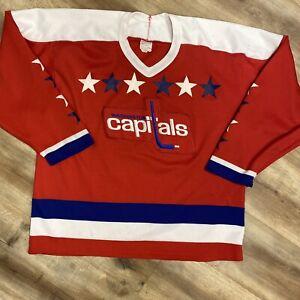 WASHINGTON CAPITALS VINTAGE 80s CCM ULTRAFIL NHL HOCKEY JERSEY ADULT MEDIUM