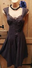 Next vintage style Lolita Victorian goth Whitby Lacey detail dress 8